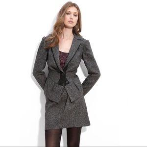 Nanette Lepore Baskerville Fitted Tweed Blazer